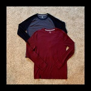 Lot of 2- Old Navy Waffle Knit Shirts- M